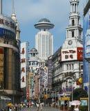 Strada di Nanjing - di Schang-Hai - la Cina Fotografia Stock
