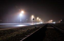 Strada di natale della città di notte Immagini Stock