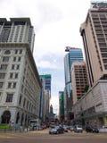 Strada di Nathan a Hong Kong Fotografia Stock