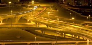 Strada di notte Immagini Stock