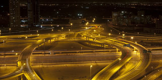 Strada di notte Fotografia Stock