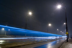 Strada di notte. Immagini Stock