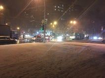 Strada di notte di Kharkov Immagini Stock