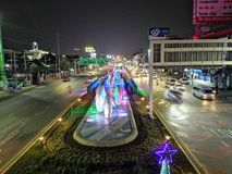 Strada di Pattaya Vita di notte immagini stock