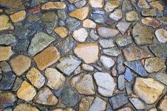 Strada di pietra bagnata Immagine Stock