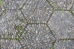 Strada di pietra dei ciottoli Fotografie Stock