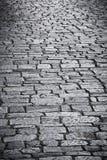 Strada di pietra del ciottolo Fotografie Stock