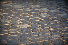 Strada di pietra del ciottolo Fotografia Stock