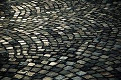 Strada di pietra del ciottolo Fotografie Stock Libere da Diritti