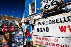 Strada di Portobello Fotografie Stock