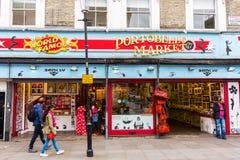 Strada di Portobello a Londra, Regno Unito Immagini Stock