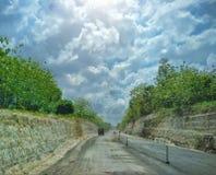 Strada di progetto a sud di Java Fotografie Stock Libere da Diritti
