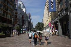 Strada di Shanghai Nanchino Immagini Stock Libere da Diritti