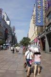 Strada di Shanghai Nanchino Fotografia Stock Libera da Diritti