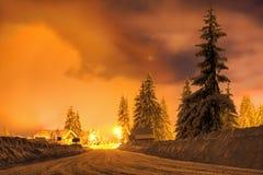 Strada di Snowy Fotografie Stock