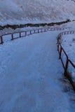 Strada di Snowy Immagini Stock Libere da Diritti