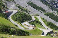 Strada di Stelvio Pass Fotografia Stock Libera da Diritti