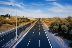 Strada di traffico Immagine Stock