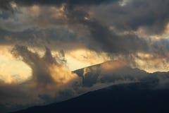 Strada di Transalpina, alpi di Transylvanian, Romania Fotografia Stock