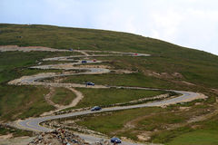 Strada di Transalpina, alpi di Transylvanian, Romania Immagine Stock Libera da Diritti