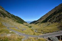 Strada di Transfagarasan dalla Romania Fotografie Stock
