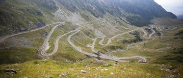 Strada di Transfagarasan, rumeno Carpathians Immagini Stock Libere da Diritti