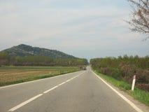 Strada di Valcerrina in Chivasso Immagine Stock