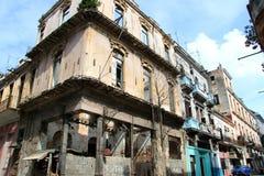 Strada di Vecchia Avana Immagini Stock