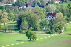 Strada di vista aerea alla città di Salisburgo Immagine Stock Libera da Diritti