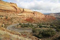 Strada di zigzag in Colorado nanometro Fotografie Stock Libere da Diritti