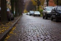 Strada diKenigsberg-Kaliningrad Fotografie Stock Libere da Diritti