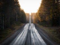 Strada diritta della ghiaia fotografia stock
