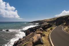 Strada dopo Hana intorno al lato posteriore di Haleakala su Maui immagine stock libera da diritti