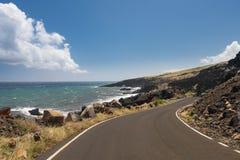 Strada dopo Hana intorno al lato posteriore di Haleakala su Maui fotografia stock
