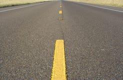 Strada a due corsie. Fotografia Stock Libera da Diritti