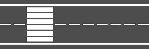 strada a due corsie e attraversamento orizzontali della città per il modello Fotografia Stock Libera da Diritti