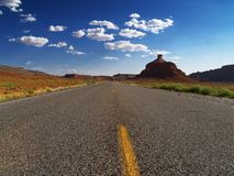 Strada a due corsie nell'Utah Fotografia Stock