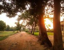 Strada durante il tramonto Fotografie Stock Libere da Diritti