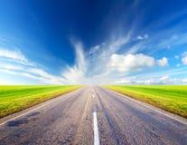 Strada e cielo Fotografia Stock