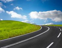 Strada e cielo blu Fotografia Stock Libera da Diritti