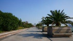 Strada e cielo blu Immagini Stock Libere da Diritti
