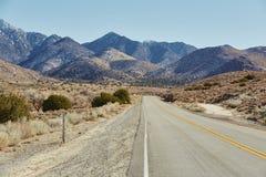 Strada e montagna, U.S.A. Fotografia Stock