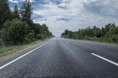 Strada e nebbia Immagini Stock Libere da Diritti