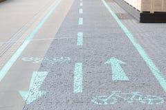 Strada e pavimentazione della bicicletta Fotografie Stock