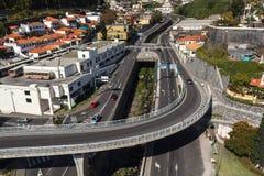 Strada e ponte Fotografie Stock Libere da Diritti
