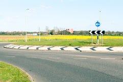 Strada e rotonda moderne fotografia stock libera da diritti