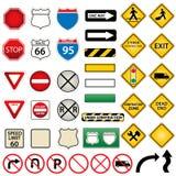 Strada e segnali stradali Fotografia Stock Libera da Diritti