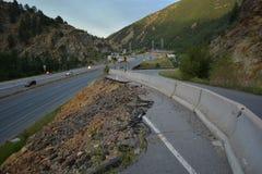 Strada erosa della montagna Fotografia Stock