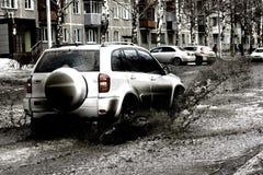 Strada fangosa Immagini Stock