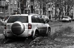 Strada fangosa Fotografie Stock Libere da Diritti